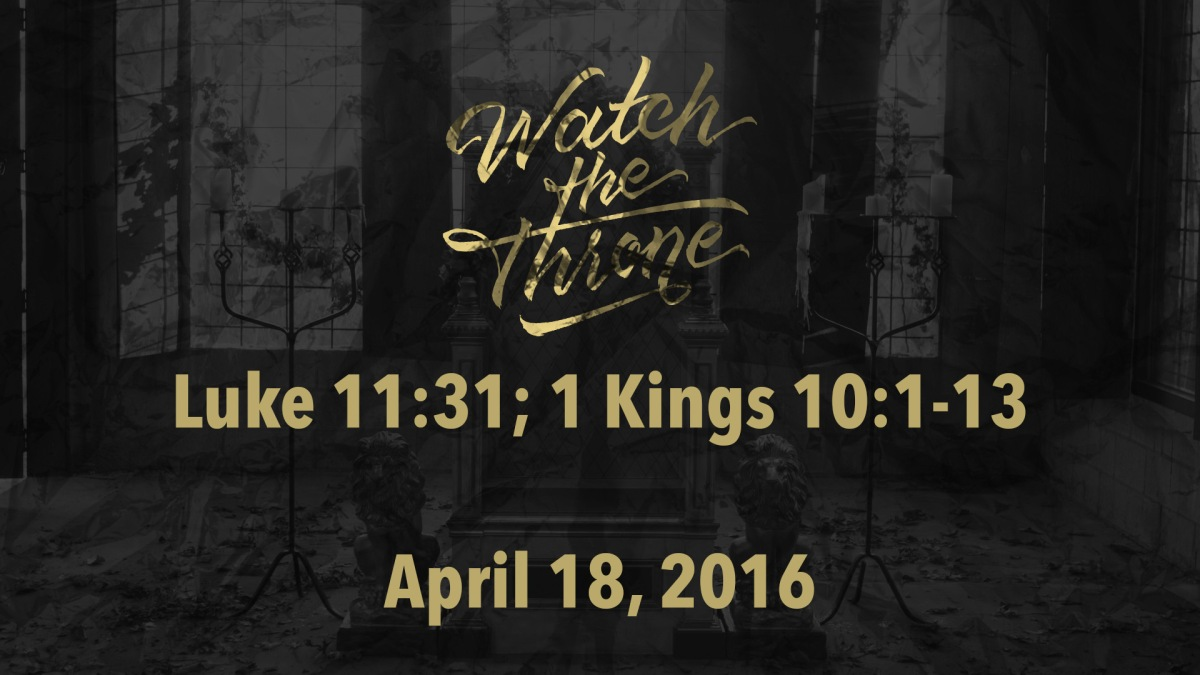 Watch The Throne Reading- April18