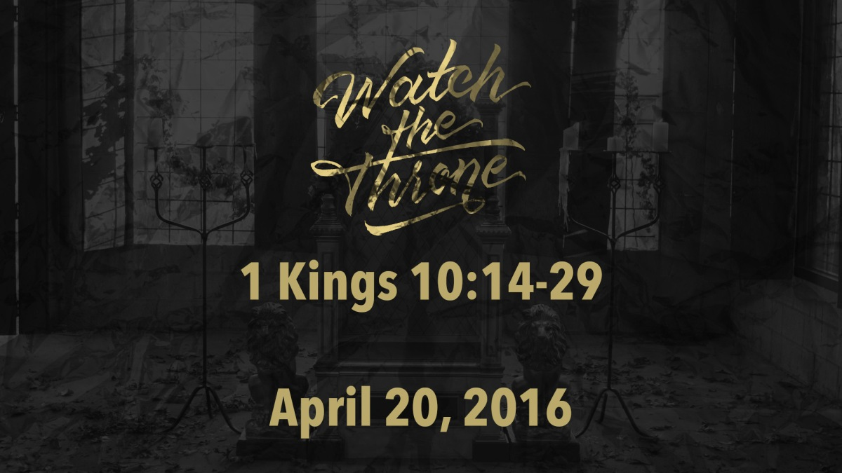 Watch The Throne Reading- April20