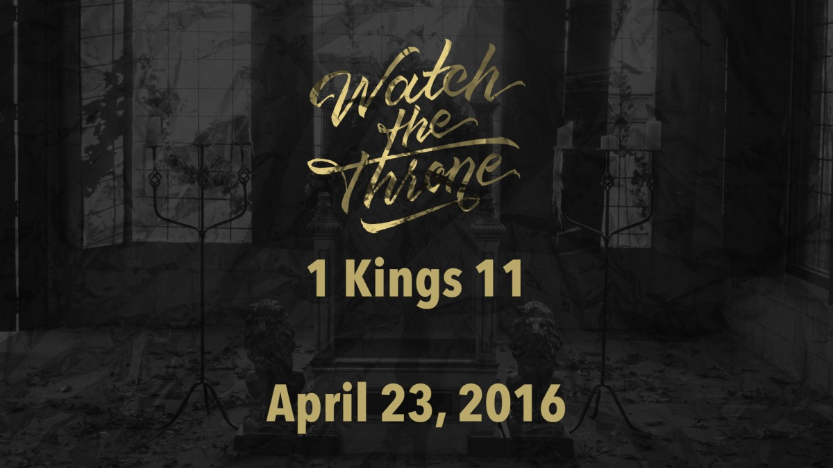 Watch The Throne Reading- April 23
