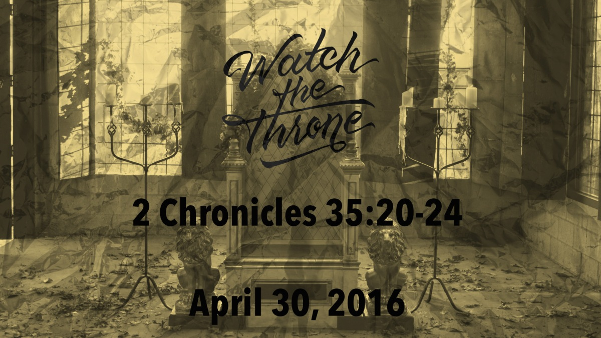 Watch The Throne Reading- April 30