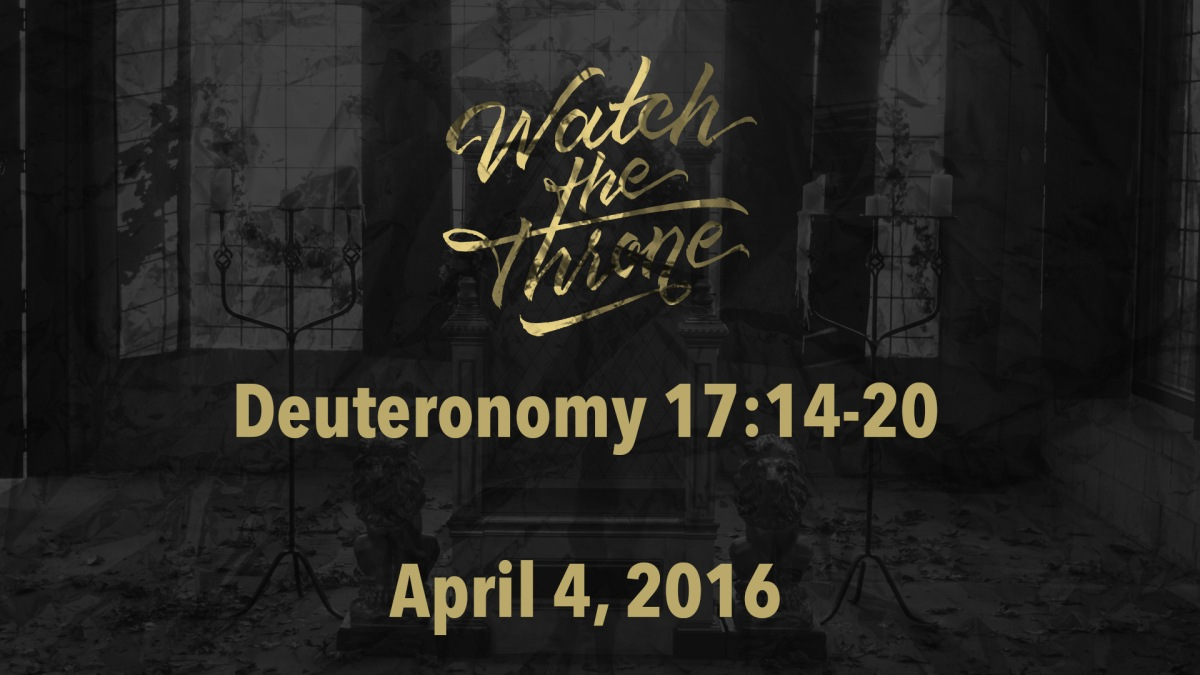 Watch The Throne Reading – April4